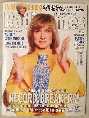 Radio Times magazine 7-13 October 2017 Antiques Roadshow Fiona Bruce (1st CLASS)