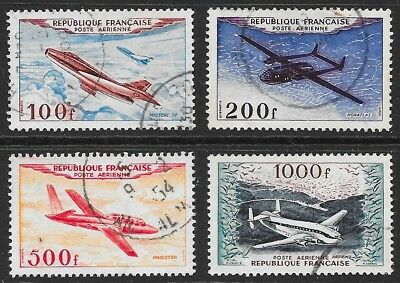 FRANCE: 1954 AIRS, fine used set (4)