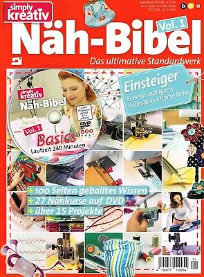 simply kreativ NÄH - BIBEL Vol.1 Das ultimative Standardwerk Sept. 01/2016 + DVD