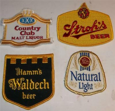 Vintage Beer Company Jacket Patches  Hamms  Strohs  Natural Light  Country Club