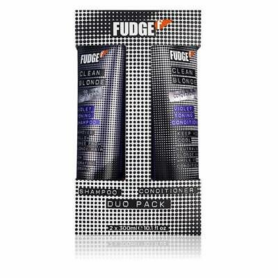 Fudge Clean Blonde Violet Toning Shampoo 300Ml And Conditioner 300Ml Duo Pack