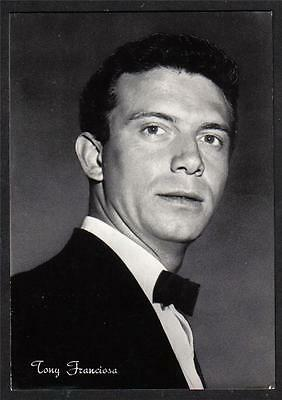 TONY FRANCIOSA Cinema Star circa 1960 ITALY amazing Real Photo PC Vera foto