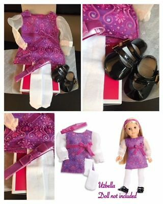American Girl Julie's BeForever Holiday Outfit CHRISTMAS DRESS, SHOES NEW In BOX