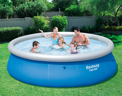 "Kids Garden Swimming Pool 13ft x 33""  Quick Easy Fill 3 Ply Drain Valve 6+ Years"