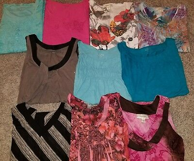10 piece shirt lot ann taylor, dressbarn, coldwater creek, size small