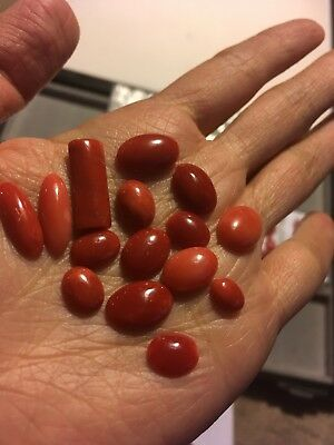 antique old stock natural coral cabochons Others amber turquoise sale