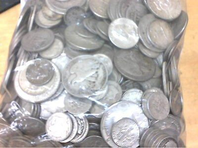 10 Troy ounces 90% silver U.S. Coins. Pre-1965. real old coins included.