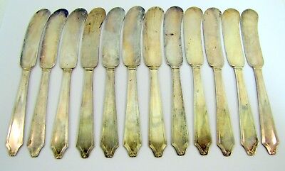 Lot of 11 STERLING SILVER Knives BUTTER SPREADERS Maker Unknown MINUET  g