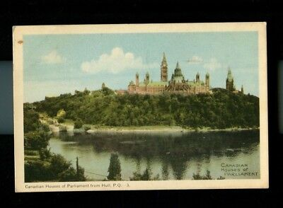 Vintage Postcard - Houses of Parliament Canada Quebec Posted 1949