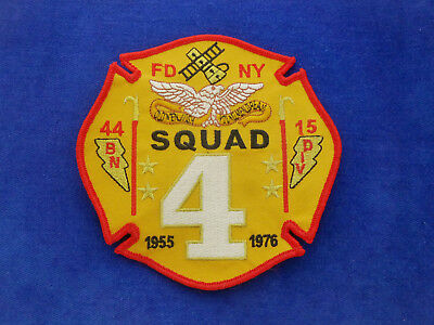 FDNY Squad 4 Patch Fire Department New York 1955-1976