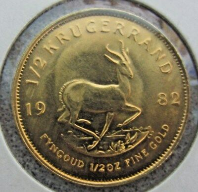 1982 South Africa 1/2 oz Proof Gold Krugerrand