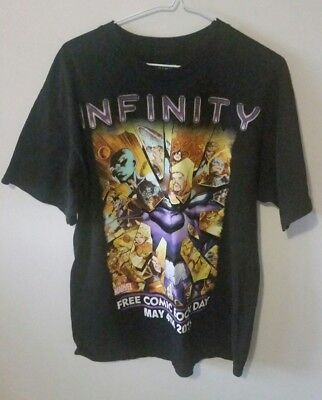 Marvel Infinity T-Shirt Free Comic Book Day Size XL Large