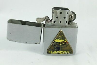 "1955 Zippo Lighter, 2nd Armored Div. ""Hell on Wheels"" Trench Art"