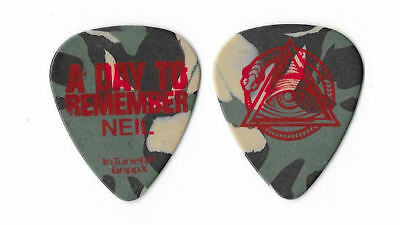 A Day To Remember red/camo tour guitar pick