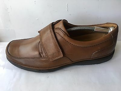 Clarks swift turn genuine leather size 12 h mens brown formal casual shoes tan
