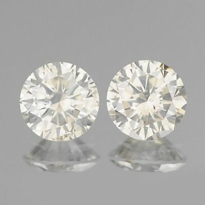 0.50ct 4mm FULL FIRE ROUND PAIR WHITE I COLOR NATURAL LOOSE DIAMONDS FREE SHIP