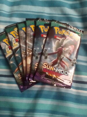 Pokemon Cards Sun & Moon Guardians Rising x 6 Sealed Booster Packs