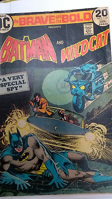 Dc Comics , Brave And The Bold #110  Batman and Wildcat -  1974