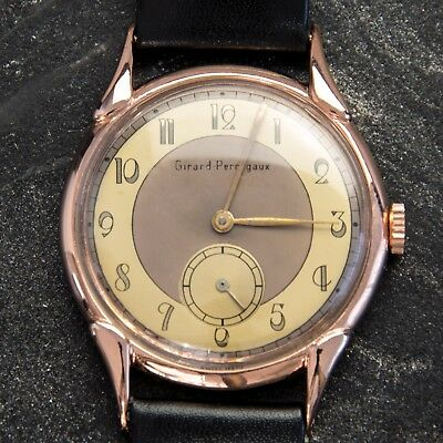 Art Deco - Girard Perregaux - Vintage - Rose Gold Plated - Serviced