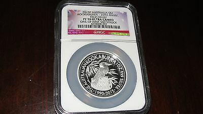 ** High Relief 2015 Australia Silver Proof Kookaburra Coin PF70 One of First 500