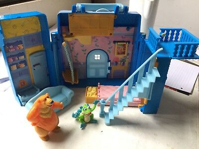 Bear in the Big Blue House Playset With 2 Figures Jim Henson Rare 2000
