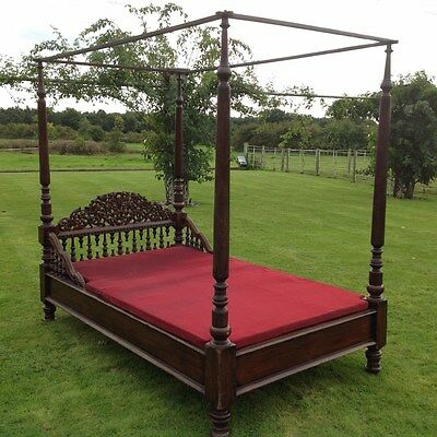 Antiques Victorian Colonial Four Poster Bed