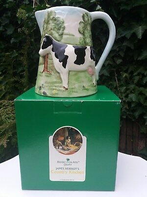 Border Fine Arts James Herriot's Country Kitchen 580252 Large Cow Jug Boxed Rare