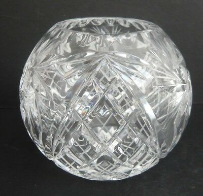 Crystal Cut Glass Flower / Posy Bowl