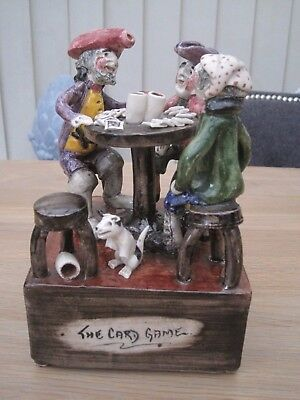 Will Young Studio Pottery Figures Music Box The Card Game Devon