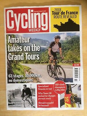 Cycling Weekly Magazine - 19th October 2017 - Tour de France 2018