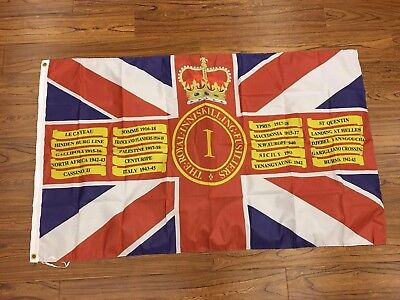 Royal inniskilling fusiliers Queens colours flag 3X5 ft