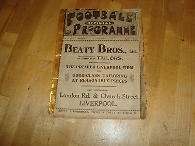 Liverpool v Sheffield United April 1914 - RARE