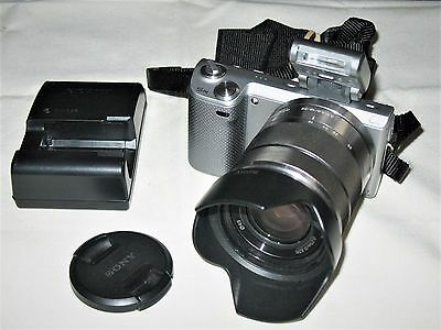 Sony Alpha NEX-5N 16.1MP Digital Camera - Silver (Kit w/ E OSS 18-55mm Lens)