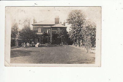 Croquet Lawn Outside House Vintage Postcard by Bedfords of Willesden Green