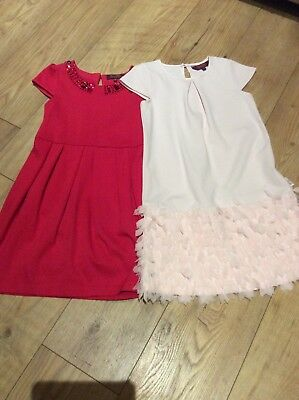 Girls Ted Baker Dresses X 2 - Pale Pink & Red 7-8 Years