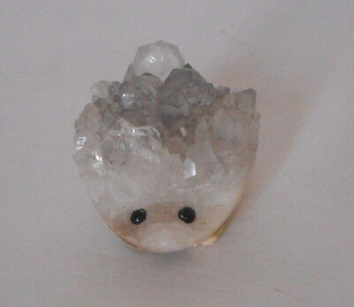 Gorgeous! carved  crystal gemstone hedgehog animal figure 55 gram
