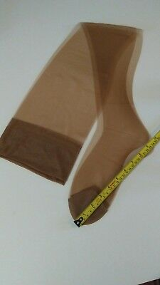 vintage nylon stockings size 10 in taupe
