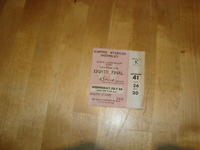 World Cup 1966 - Eighth Final ticket at Wembley: England v France