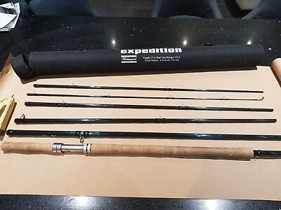 shakespeare expedition travel salmon rod 15' #10/11 6 Piece