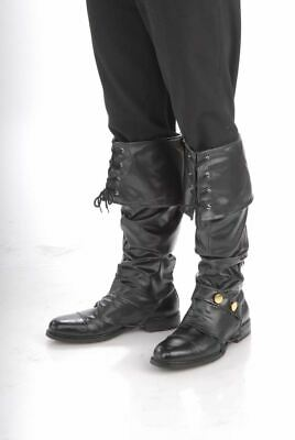 Deluxe Black Pirate Boot Covers