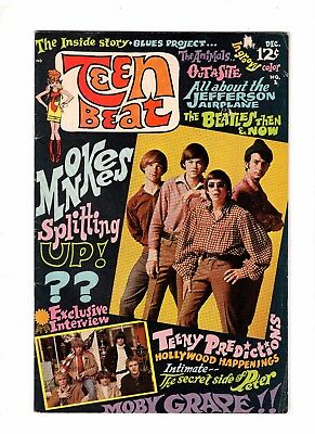 Teen Beat 1 VG/F 5.0 HTF The Beatles & the Monkees Stories