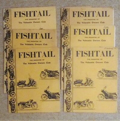 Six Velocette Fishtail magazines from  1963/4