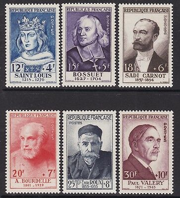 France 1954 National Relief Fund Set, Unmounted Mint, Cat £100