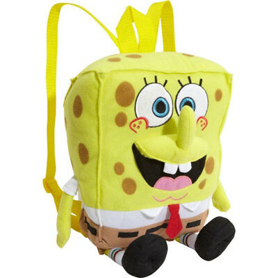 "Spongebob Squarepants Plush Backpack! Large Soft Pillow Doll Licensed 15"" Nwt"