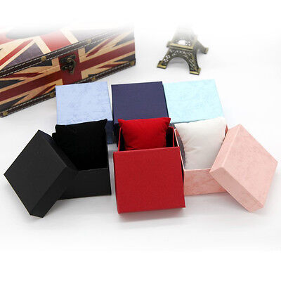 Hot! Present Gift Boxes Case For Bangle Jewelry Ring Earrings Wrist Watch Box PL