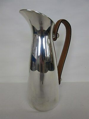 Culinary Concepts silver-plated water pitcher with leather handle - 1.4 litres