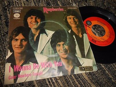 "Raspberries Goin' Nowhere Tonight/i Wanna Be With You 7"" 1972 Capitol Spain"