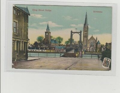 Inverness Greig Street Bridge Showing Churches P/M Inverness 1907 Milton Series