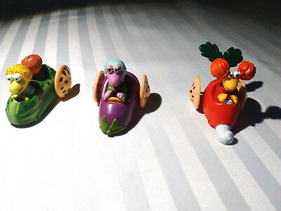 Muppets Collectibles - 1988 - 3 Push Cars - Cute!  FREE SHIP!