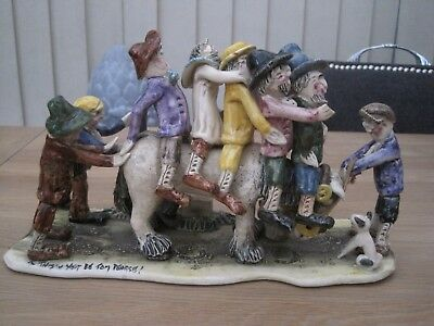 Will Young Studio Pottery Large Figure Widecombe Fair Tom Pearce